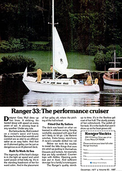 Ranger 33: The Performance Cruiser