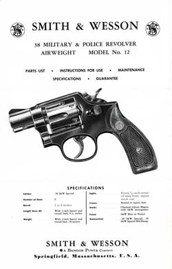 Smith & Wesson 38 Military & Police Revolver Model 12 (1967)
