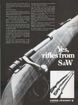 Yes, Rifles from S&W (1968)