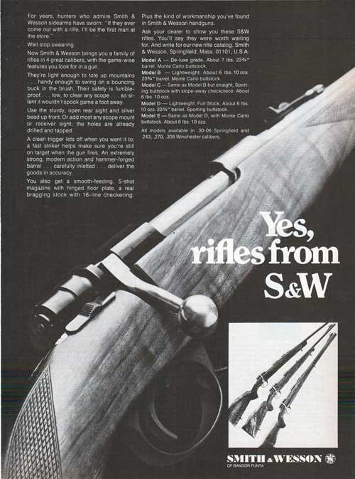 Yes, Rifles from Smith & Wesson - 1968 Print Advertisement