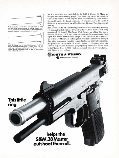 Smith & Wesson 38 Calibur Master Pistol - 1969 Advertisement