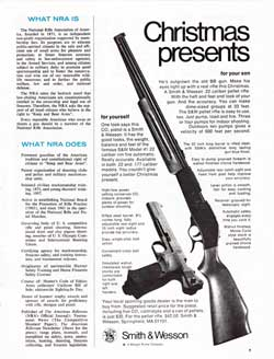 Christmas presents for yourself, for your son from Smith & Wesson (1973)