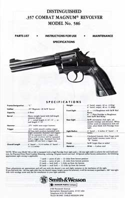Distinguished .357 Combat Magnum ® Revolver Model No. 586 (1974)