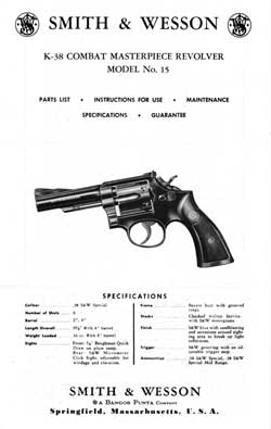 Smith & Wesson K-38 Combat Masterpiece Revolver Model No. 15 (1974)