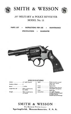 Smith & Wesson .357 Military & Police Revolver Model 13 (1975)