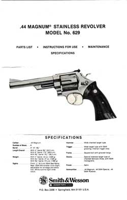 .44 Magnum ® Stainless Revolver Model No. 629 (1975)