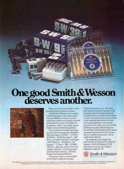 One Good Smith & Wesson Deserves Another - 1976 Advertisement