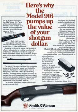 The Smith & Wesson Model 916 Shotgun Pumps Up the Value in this 1978 Print Advertisement