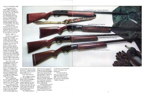 Four Models of the 1000 Shotguns from Smith and Wesson
