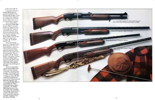 Four Models of the Smith & Wesson 3000 Shotguns