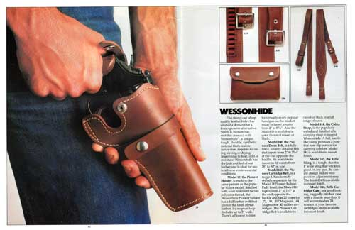 Smith & Wesson Wessonhide Synthetic Leather Accessories (1982)