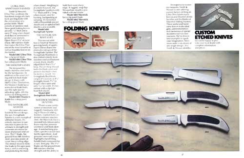 Smith & Wesson Folding Knives and Custom Etched Knives(1982