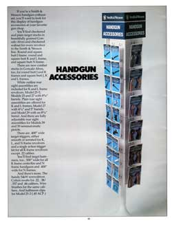 Rack of Brochures on Smith & Wesson Handgun Accessories