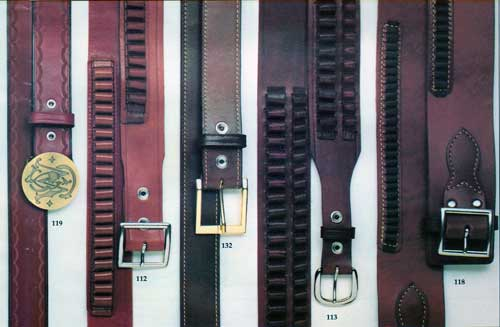 Smith & Wesson Leather Belts Models 112, 132, 113 and 118