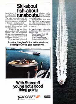 1978 SuperSport™ 18: Ski-about, fish-about, runabouts.