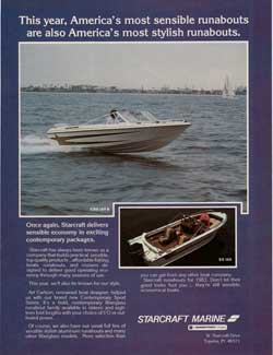 1983 Starcraft Marine CSS 160 B and SS 160 Runabouts