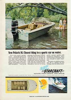 1968 Starcraft's New Polaris 16. Closest Thing To A Sports Car On Water.