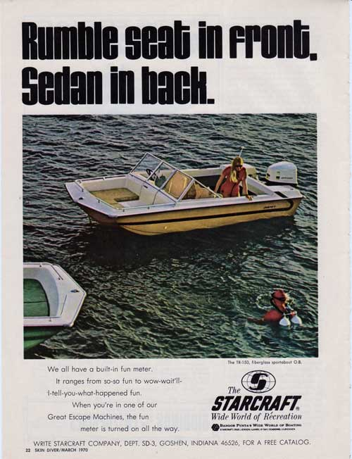 Starcraft TR-150 Sportabout Boat - 1970 Print Advertisement