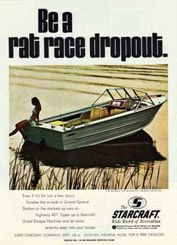 Starcraft Holiday-V marine aluminum runabout - 1970 Print Advertisement.