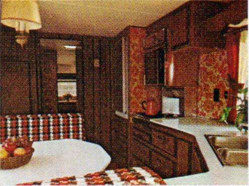 Interior view of the Starcraft Wander-Star Travel Trailer