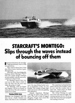 1977 Starcraft Montego Runabout Slips Through The Waves
