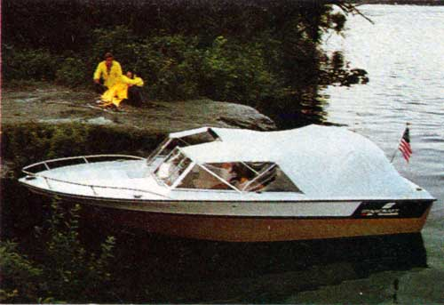 20' American Runabout Parked on Shore