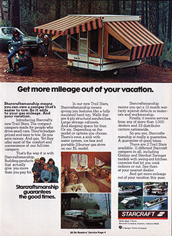 Starcraft Trail Star Camper - Easy Towing (1974)