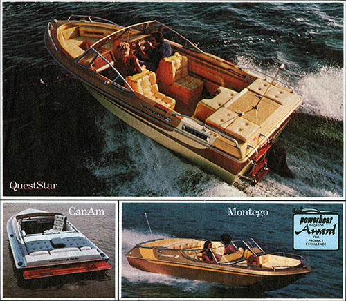Starcraft Boats including the QuestStar, CanAm and Montego