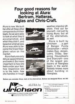 Four good reasons for looking at the Ulrichsen Alura ... 1969 Print Advertisement