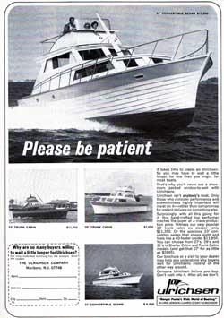 Ulrichsen Boats - Convertible Sedans and Trunk Cabins (1967)