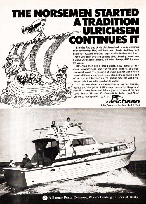 THE NORSEMEN STARTED A TRADITION ULRICHSEN CONTINUES - 1970 Magazine Advertisement