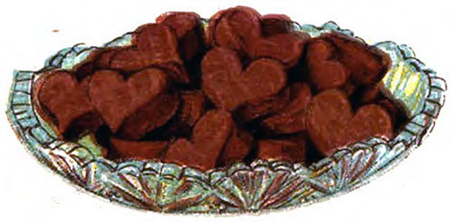 Fudge Hearts or Rounds