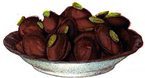 Rose and Pistachio Chocolate Creams