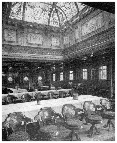 Partial View of Dining Saloon - Atlantic Transport Line circa 1908