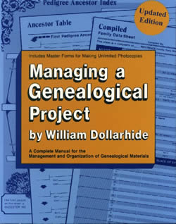 Back Cover - Managing a Genealogical Project: A Complete Manual for the Management and Organization of Genealogical Materials