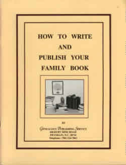 How To Write And Publish Your Family Book