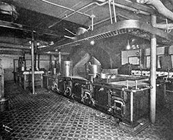 Galley of an Ocean Liner