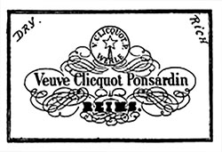 Veuve Clicquot Ponsardin Lable in 1889