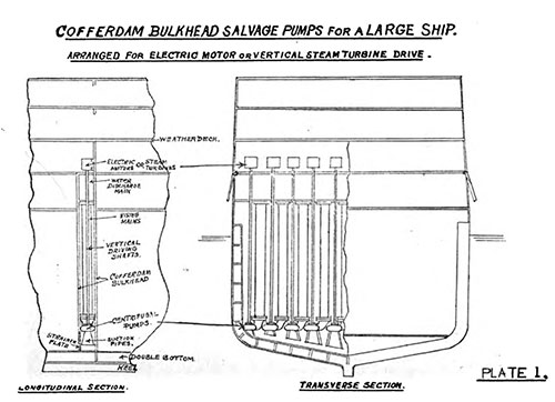 Plate 1: Cofferdam Bulkhead Salvage Pumps for a Large Ship.