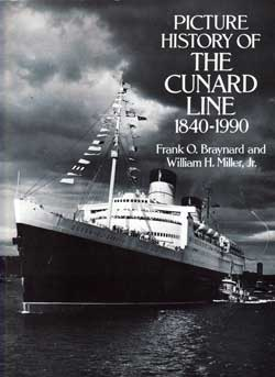 Front Cover, Picture History of the Cunard Line 1840 - 1990 (1991)