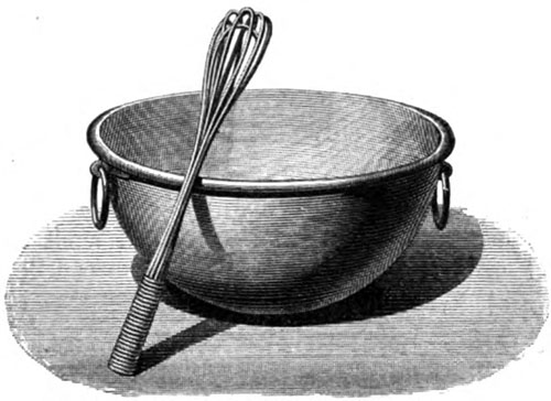 Whipping bowl and Whisk