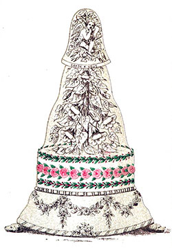 The Bride Cake -The Art of Confectionery - 1862