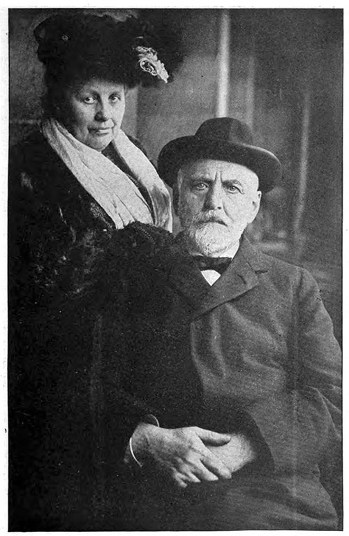 Mr. and Mrs. William T. Stead. The Great Educator and Editor, Mr. Stead, Mourned by the Whole World, Went Down with the Titanic