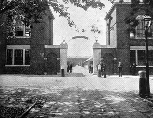 THE ENTRANCE TO THE COOPERAGE, ROYAL VICTUALLING YARD.
