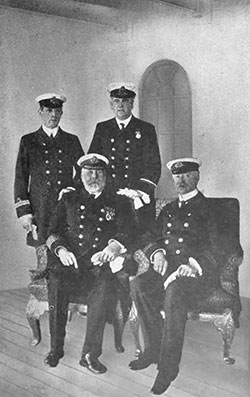 Last Photograph of the Senior Officers of the RMS Titanic