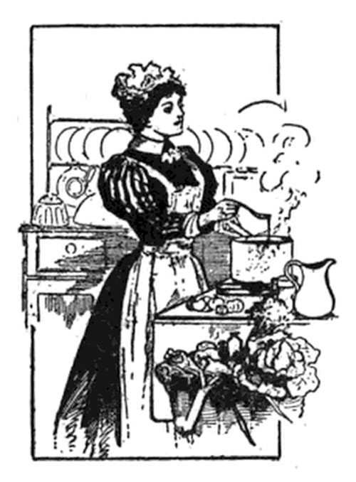 Hostess Preparing Food