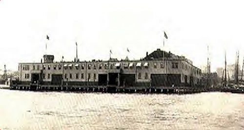 The Immigrant Landing Station at Boston circa 1904