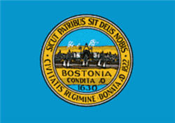 Flag and Seal of Boston Massachusetts