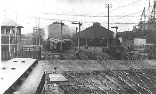 BRB&L Railroad yard, East Boston, circa 1910