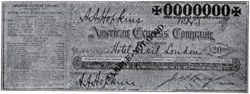 Fig 082 - Facsimilie Of Express Company Cheque
